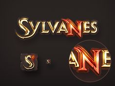 Sulvanes Game logo designed by Grishin Dmitriy. Connect with them on Dribbble; Typo Design, Game Logo Design, Graphic Design, Photoshop Fonts, Photoshop Tutorial, Banners, Logo Psd, Gaming Banner, Typography