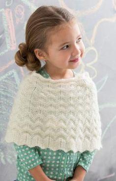 Knit Girl's Poncho