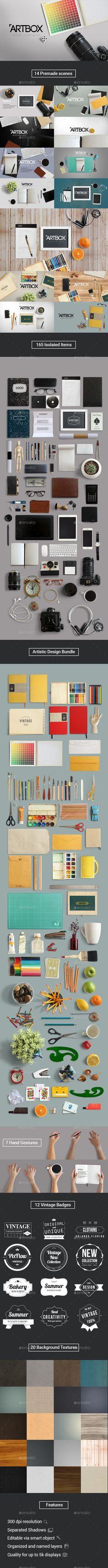 ArtBox Artistic Mockup Kit 114 best