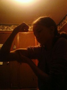 Even my lil sis could beatyou up..haha Muscle bound! ;)