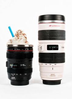 Camera lens mugs. Nikon version also available!