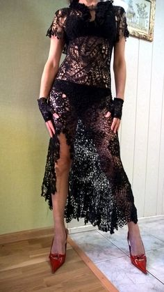 Kleid stricken häkeln irische Spitze. von kruchek auf Etsy …