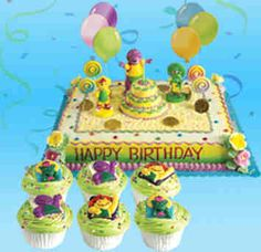 Barney Party ~ Desserts ~ Cake and cupcakes