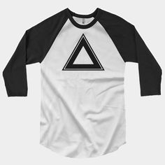 American Apparel¾ Sleeve Raglan Shirt Unisex Poly-cotton blend (50% polyester, 50% combed cotton)
