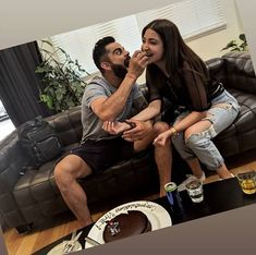 New Delhi : Being the doting wife she is, Anushka Sharma had a special surprise for Virat Kohli to celebrate the latter's historic serie. Bollywood Couples, Bollywood Stars, Bollywood News, Bollywood Celebrities, Bollywood Fashion, Bollywood Actress, Anushka Sharma And Virat, Virat Kohli And Anushka, Famous Couples