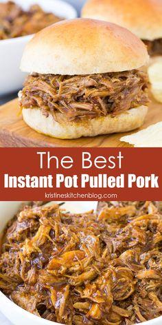 Pulled Pork Instant Pot Recipe, Pulled Pork Recipes, Instant Pot Pasta Recipe, Best Instant Pot Recipe, Instant Recipes, Instant Pot Dinner Recipes, Easy Dinner Recipes, Easy Crockpot Pulled Pork, Easy Pork Recipes