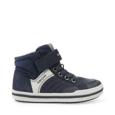 Shop Jr Elvis boys' trainers in blue. Find more at Geox.com!