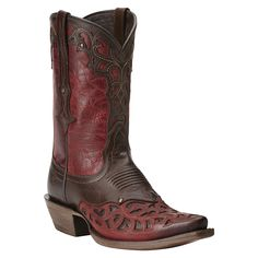 Women's Ariat Vera Cruz Boots Maple and Rojo #10014095