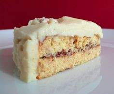 Protein Pow: Banana Protein Cake with an Almond Butter filling and a Vanilla Protein Frosting