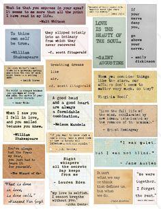 Scrapbook Quotes, Scrapbook Journal, Scrapbook Stickers, Printable Scrapbook Paper, Scrapbook Recipe Book, Quote Collage, Collage Sheet, Collage Book, Bullet Journal Writing