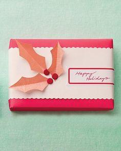 Holly Gift Embellishment