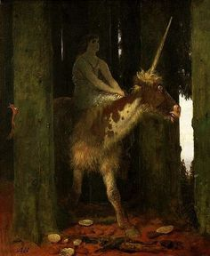 Arnold Böcklin  (1827–1901)  Silence of the forest, 1885 (oil on panel)