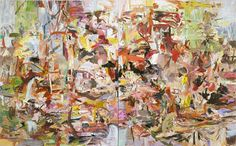 CECILY BROWN Keychains and Snowstorms, 2004 Oil on linen Diptych: 103 x 166 inches overall (261.6 x 421.6 cm)