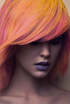 Yellow, pink, and purple. Taylor is a Candy Beauty for Jeff Tse Shoot - Fashion Gone Rogue