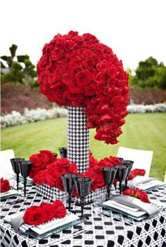Send Wedding Party Flowers from Ace Flowers for delivery in the Houston, TX area. Ace Flowers in Houston offers a wide selection of Wedding Party Flowers. Red Wedding, Wedding Flowers, Wedding Bouquets, Wedding Centerpieces, Wedding Decorations, Centrepieces, Tall Centerpiece, Beautiful Table Settings, Deco Table