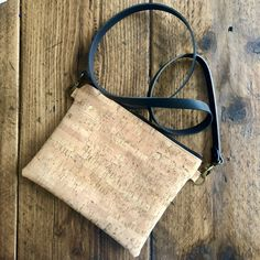 The Myla Bag - Self Assembly Required Cork Fabric, Myla, Simple Bags, Envelope Clutch, Bag Making, Cotton Fabric, Black Leather, Reusable Tote Bags, Stitch