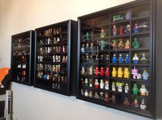 This Is How We Display My Husband S Minifig Collection I Found The Bo At Michael And They Are Actually Shot Gl Cases Turned Sideways