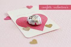 Confetti troqueladora de corazones + chocolatina