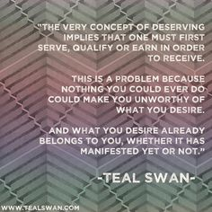 Awesome Teal Swan quote. www.tealswan.com