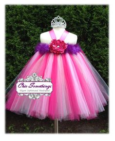 Tutu Dress Flower Girl Tutu Dress 0 to 24m Tulle by ChicSomethings, $65.00