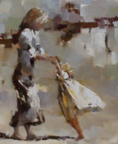 Reminds me of you and mummy dancing the polka in the kitchen!    Dance ~ Artist - Susie Pryor