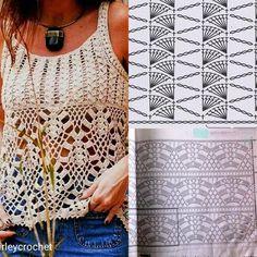 Best 12 New Crochet Summer Tops Pattern Tunics Ideas – SkillOfKing. Pull Crochet, Gilet Crochet, Crochet Crop Top, Crochet Jacket, Crochet Cardigan, Knit Crochet, Crochet Chart, Crochet Stitches, Crochet Free Patterns
