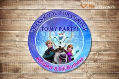 Frozen Birthday Thank you card  by VSstudio on Etsy