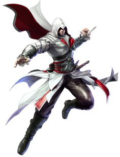 Ezio Auditore da Firenze is a guest character in Soulcalibur V from the Assassin's Creed franchise. Game Character Design, Character Concept, Character Art, Character Creation, Concept Art, Assassin's Creed Brotherhood, Soul Calibur Characters, Soul Calibur 5, Assassins Creed Memes