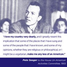 Thanks to Pete Seeger for reminding us what it means to be a good person--and a good American. We'll miss you, Pete.