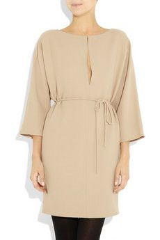 VALENTINO  Belted silk-crepe dress