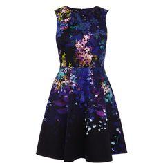 Dark floral print dress found on Polyvore