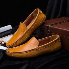 ZDRD Genuino Cuero Zapatos de Hombres de Negocios Holgazanes Casuales Zapatos para hombres Planos de Deslizamiento en Los Zapatos Mocasines Hombres de Conducción Suave Aliento zapatos