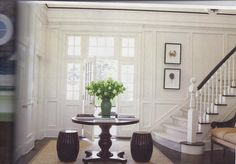 Love that this foyer is both sophisticated but simple