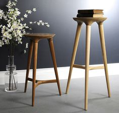 walnut and ash kingstown stools