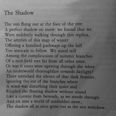 "Charles Tomlinson,""The Shadow. Shadow Play, Poetry Quotes, Memoirs, Biography, Ephemera, Shadows, Poems, Writer, Interview"