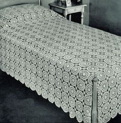 """Vibtage """"Nosegay Bedspread"""" it has a motif that you can clearly use as a diagram, written instructions are pretty good, and if you follow my boards you I don't pin written patterns, I don't read patterns. I'm a visual crocheter and I love it!"""