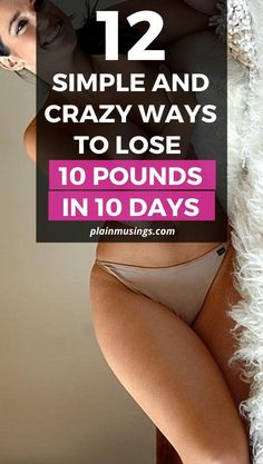 12 Simple and Crazy Ways To Lose Weight Fast - Plain Musings Fat Loss Diet, Weight Loss Diet Plan, Easy Weight Loss, Lose Weight Naturally, How To Lose Weight Fast, Weight Control, Regular Exercise, Losing 10 Pounds, Weight Loss Supplements