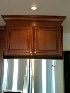 Maple Upper Fridge Cabinet w/ Molding. Better Living Renos 416-795-9828  - Oakville