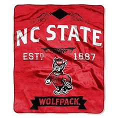 NCAA North Carolina State Wolfpack College Label Raschel Throw 50 x 60Inch ** Be sure to check out this awesome product.