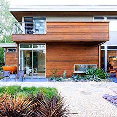 Modern, low-water garden design