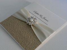 Luxury Handmade Wedding Invitation (Jasmine) x 1 sample | eBay. Could change colors. Like the textured effect