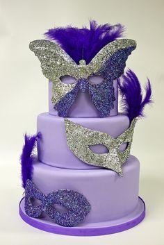 masquerade party cakes - Google Search
