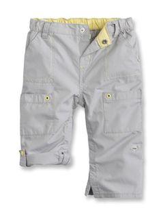 Pantalon toile modulable Gris Tourterelle Garçon