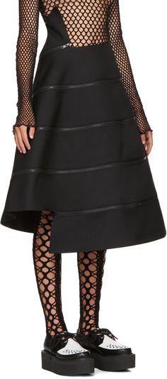 Junya Watanabe - Back Spiral Zipped Skirt