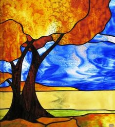 Tree Stained Glass Patterns | Prairie Stained Glass | Classes