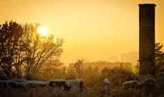 #winter in #szczecin #sunset