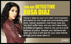 I took Zimbio's 'Brooklyn Nine-Nine' quiz and I'm Detective Rosa Diaz! Who are you? #ZimbioQuiz