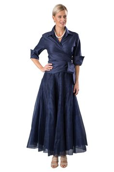 This pure silk outfit is a classic - the Classic Wrap Shirt and Bohemian Skirt is perfect for so many occasions, of course including the mother of the bride or mother of the groom