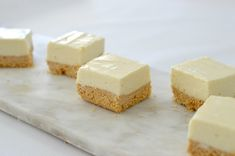 This No Bake Lemon Cheesecake Slice combines two of my favourite things AND it can also be made using a Thermomix - what more could you want! No Bake Lemon Cheesecake, Healthy Cheesecake, Cheesecake Recipes, Cookie Recipes, Gourmet Recipes, Sweet Recipes, Dinner Recipes, Clean Eating Snacks, Food Print