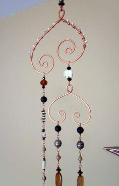 Copper Wire Crafts, Copper Wire Art, Wire Wrapped Jewelry, Wire Jewelry, Wire Bracelets, Wire Rings, Glass Jewelry, Wire Ornaments, Snowman Ornaments